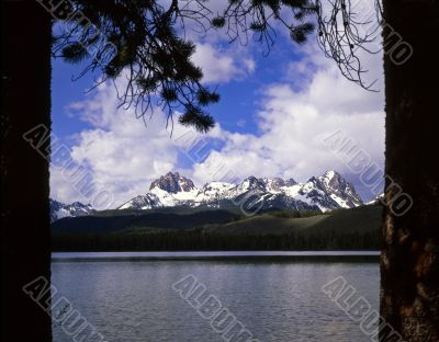 Little Red Fish Lake &Trees
