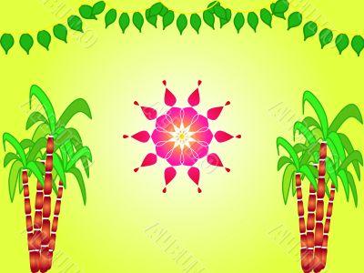 Indian harvest festival design