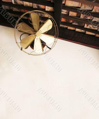 Old fashioned ceiling fan