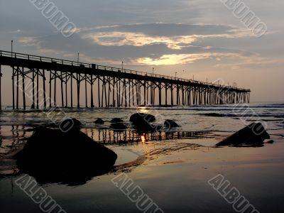 Sunrise Pier Carolina Beach