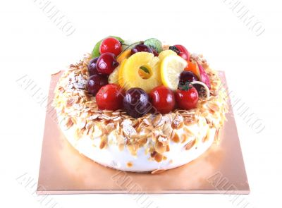 Cake with fruit topping