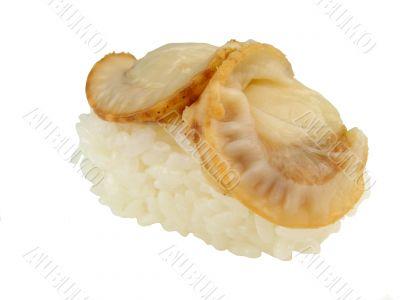 Clam sushi