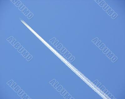 sky, airplane, track