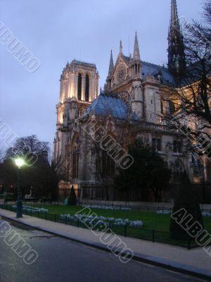 Night Notre Dame. Paris