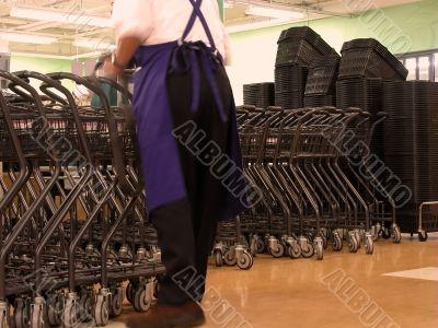 Worker in a supermarket