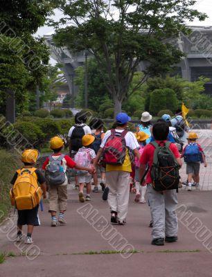 Schoolchildren group