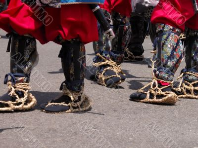Traditional Japanese infantry footwear