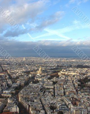 Panorama of Paris. The House of invalids