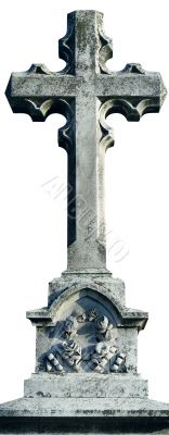 Ancient marble Christian Holy cross