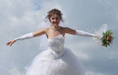 bride flying high