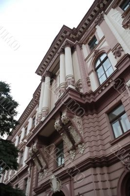 Baroque builing in brown color