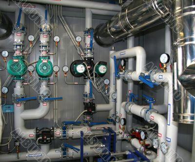 Interior of modern boiler-house