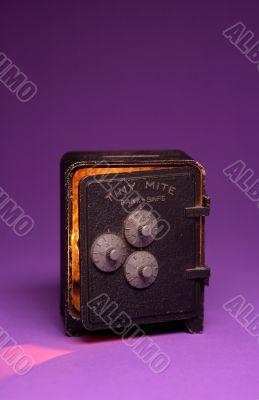 Old tiny safe box