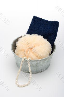 Sponge and towel