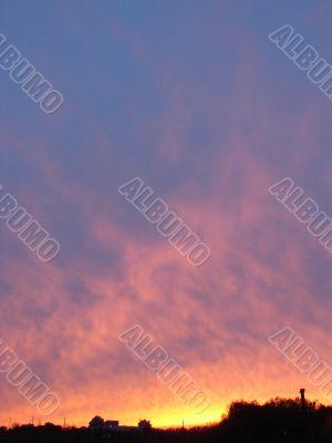 dramatic sunset landskape