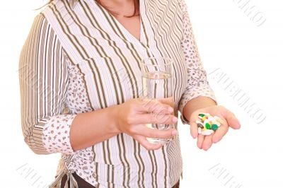 woman with lots of pills