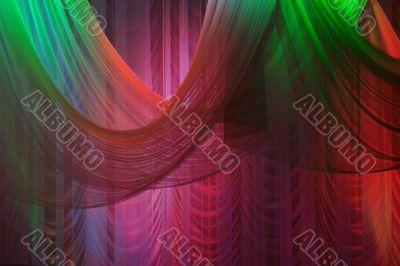 illuminated scene background curtains