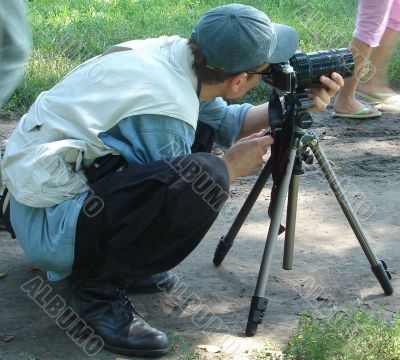 Outdoor photographer on the mission