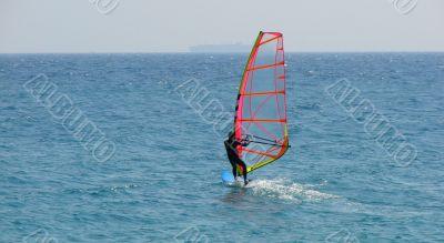 Surfing a sail