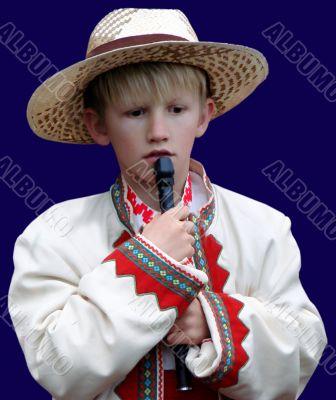 Boy folk musician