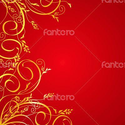 Elegant golden floral background
