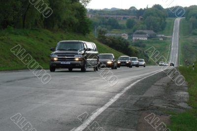 Highway thru high hills