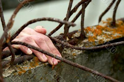 Prisoner. Hand