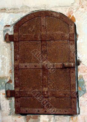 Ancient metal doorway of monastery