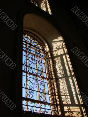 Window of ancient cathedral
