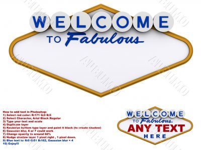 Welcome to fabulous generic sign