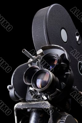 Stock Photo of an Old Movie Camera