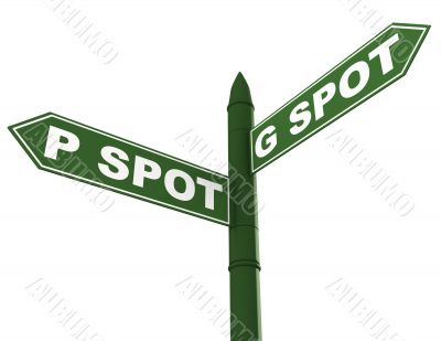 G spot and P spot sign