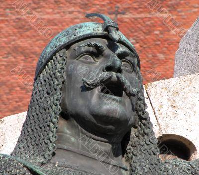 Warrier statue -detail