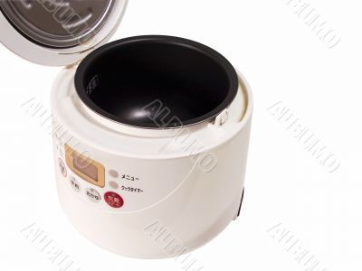 Opened rice cooking machine