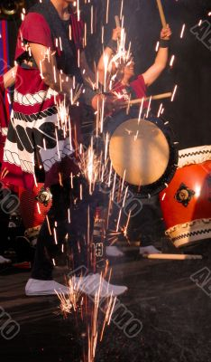 Japanese drums show