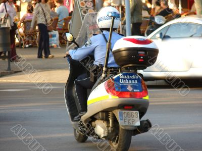 The motorized police