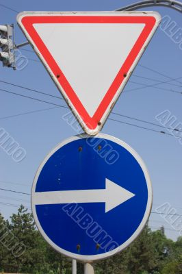 Two road signs