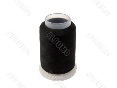 Black sawing thread bobbin-clipping path