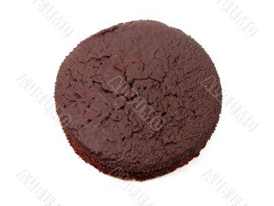 Chocolate cake upper view