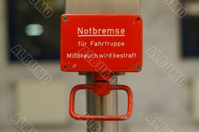 notbremse | emergency brake