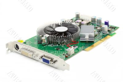 Mid-Range Video Card (isolated on white)