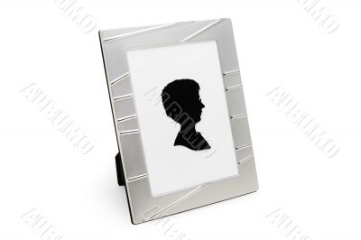 Photo Frame with Portrait (isolated on white)