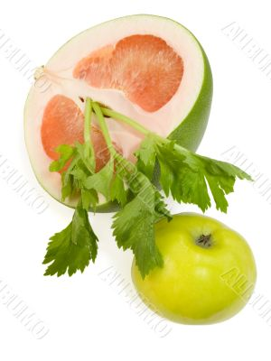 Apple and pummelo
