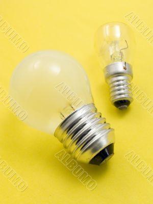 Small and big electric bulbs