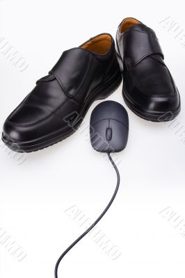Shoes and mouse
