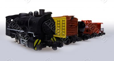Locomotive and freight cars