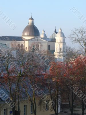 Cityscape of Lutsk Ukraine with Ancient Dome