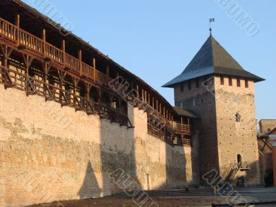 Ancient castle walls and towers