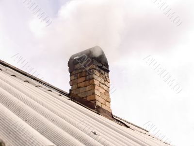 Smoke from an chimney