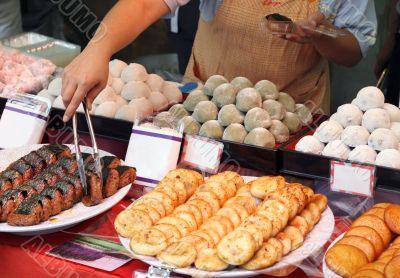 Japanese street food stand
